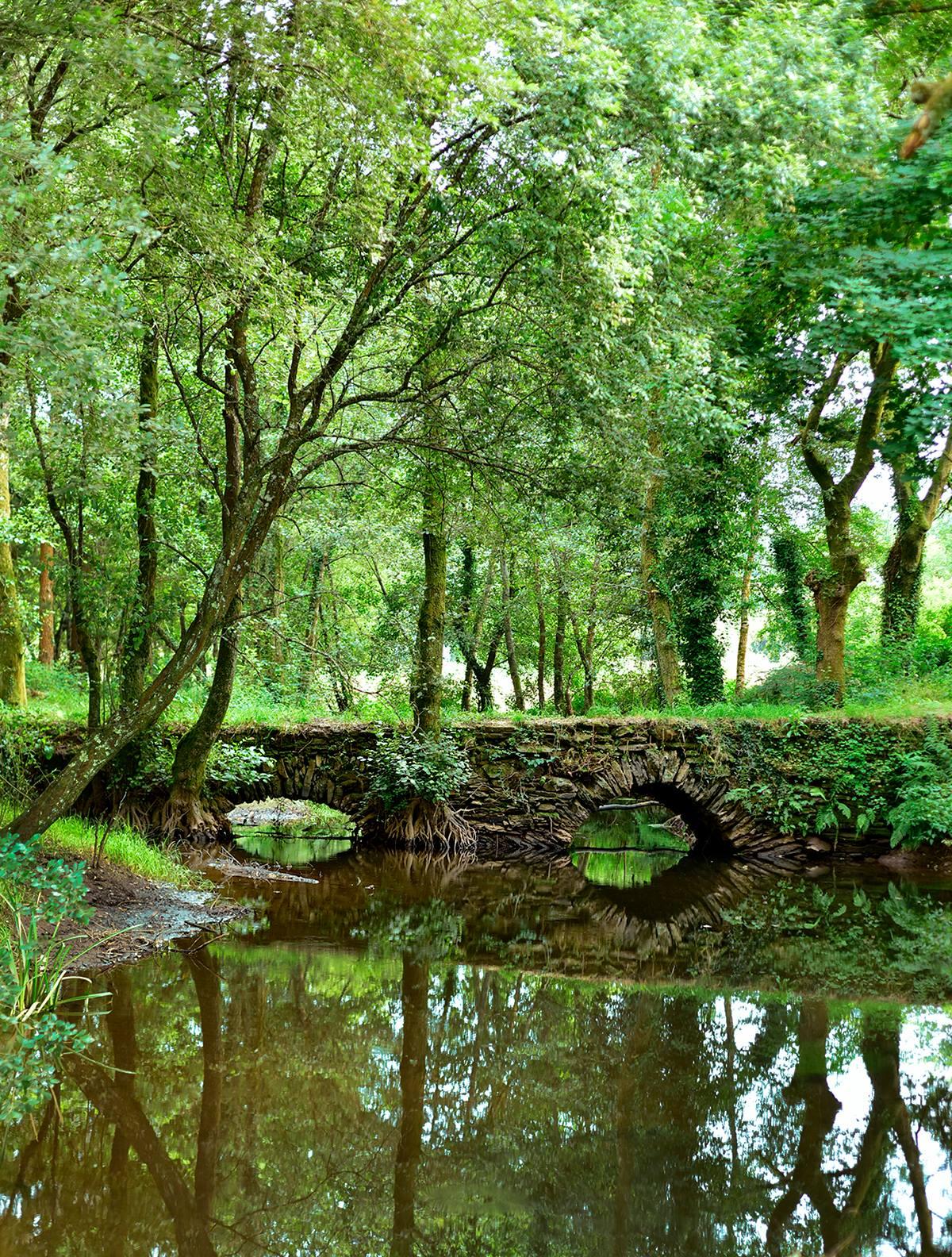 Ponte Puñide un puente romano sobre el río Mera